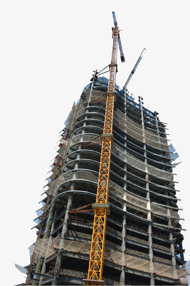 Construction elevator protection network. Buildings clipart modern building