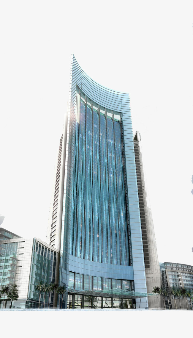 Buildings clipart modern building. Perspective glass curtain wall