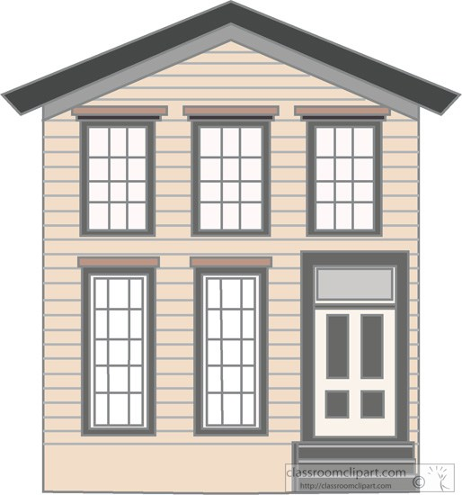 Architecture wood frame two. Buildings clipart old building