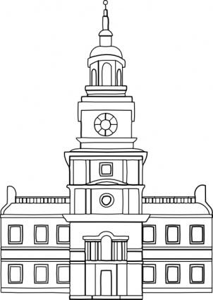 Buildings clipart outline. Town council