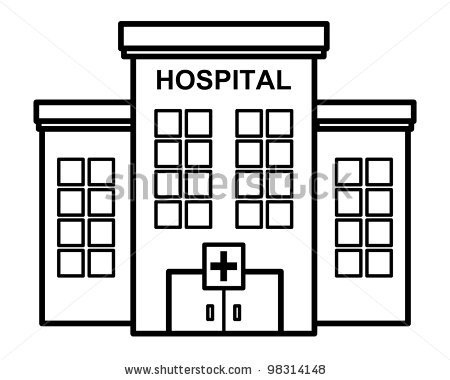 Buildings clipart outline. Great of hospital building