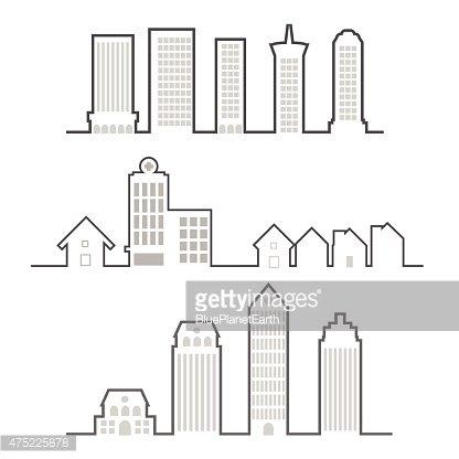 Building premium clipartlogo com. Buildings clipart outline