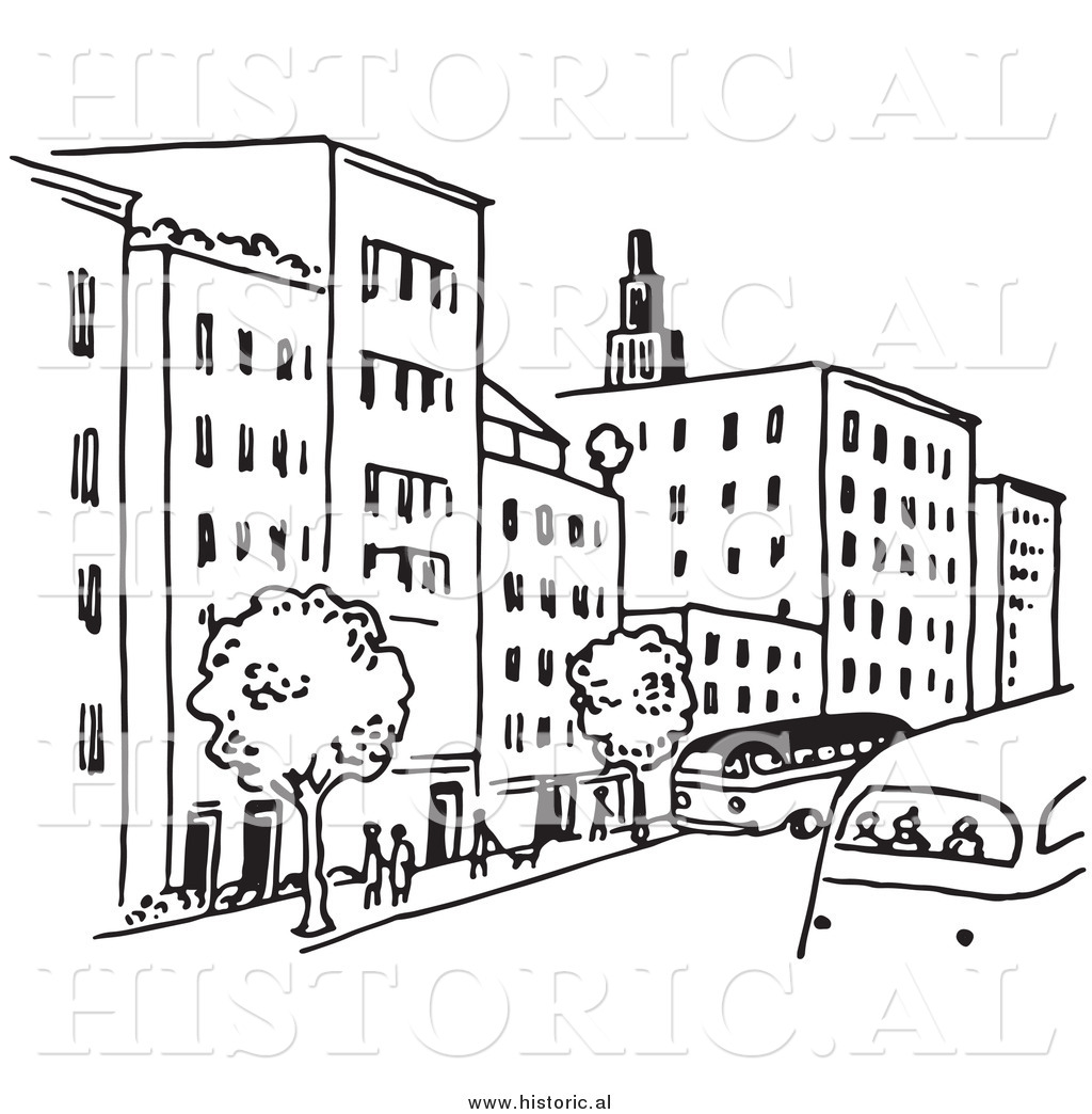 Buildings clipart outline. Drawing at getdrawings com