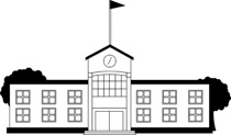 Free black and white. Buildings clipart outline