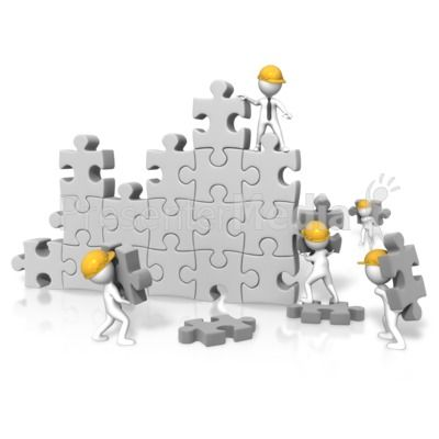 Pin on presentation . Buildings clipart puzzle