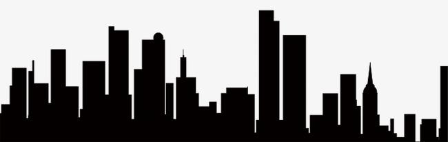 Sketch black png image. Buildings clipart silhouette