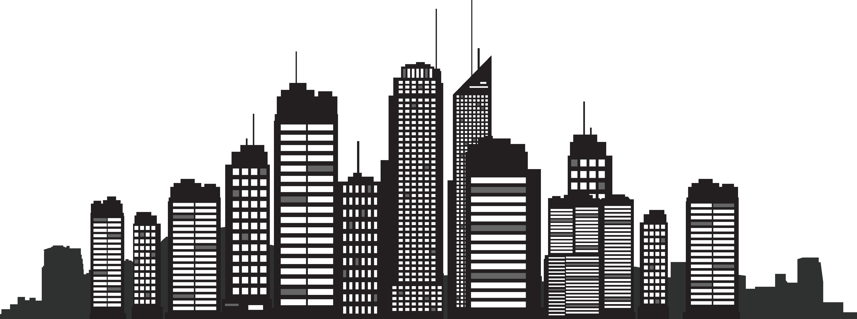 Buildings clipart silhouette. New york city skyline