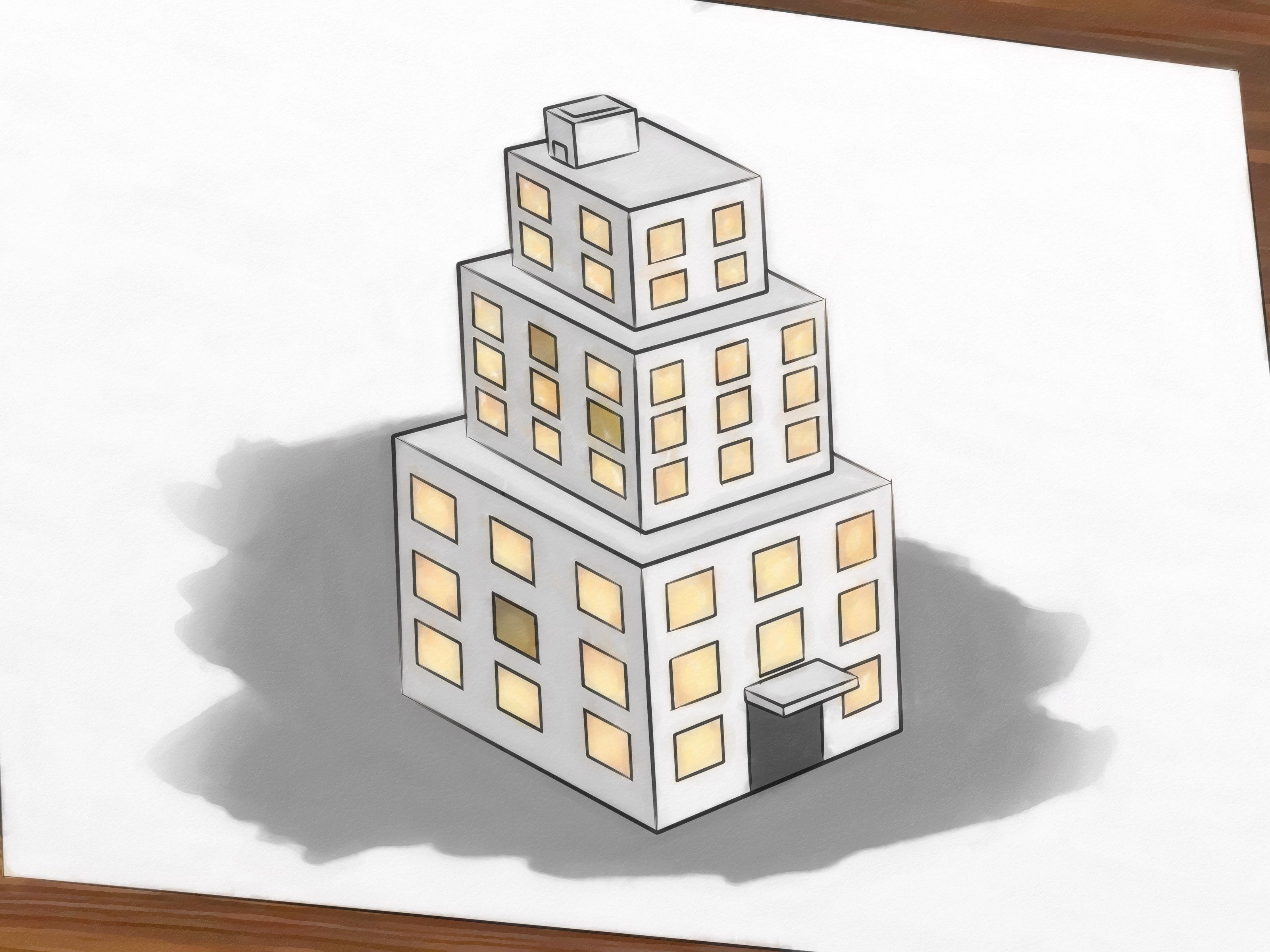 Building drawing at getdrawings. Buildings clipart simple
