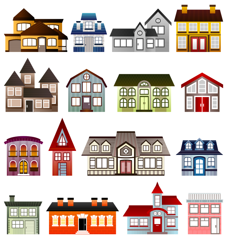 Clipart road driveway. Free simple houses architecture