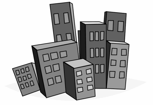 Buildings clipart skyscraper. Free public domain clip