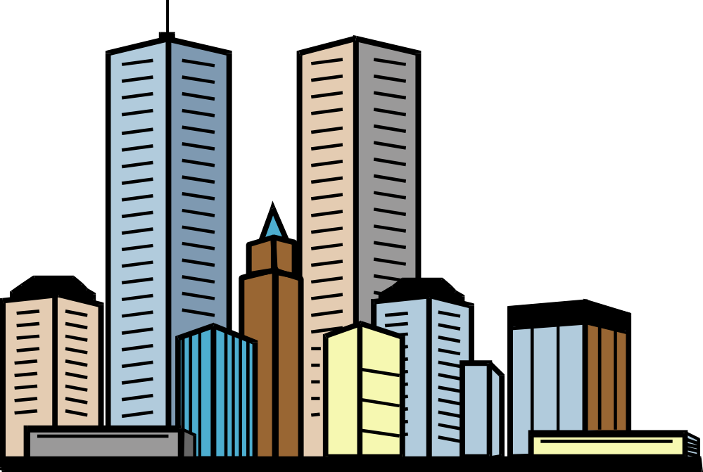 collection of and. Tall clipart city building