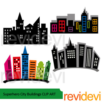 Superheroes clipart building. Superhero city buildings clip