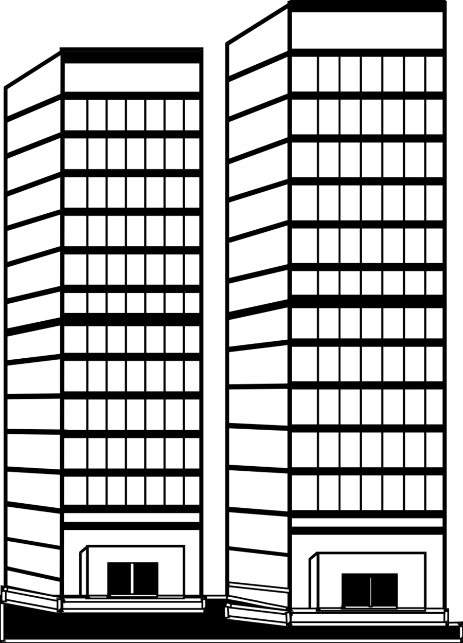 Book black and white. Buildings clipart tall building