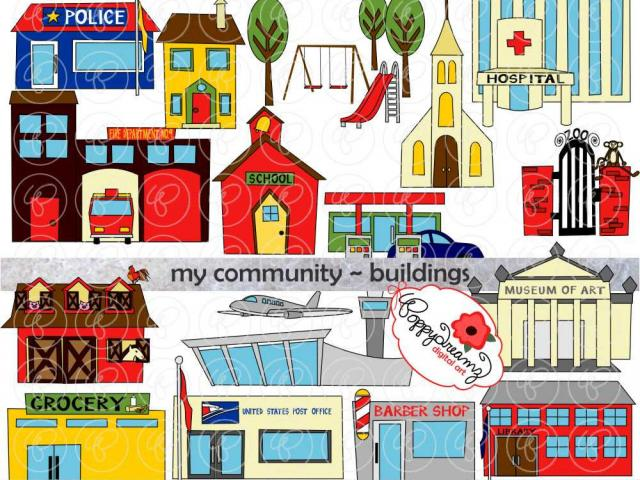 Building free on dumielauxepices. Buildings clipart town