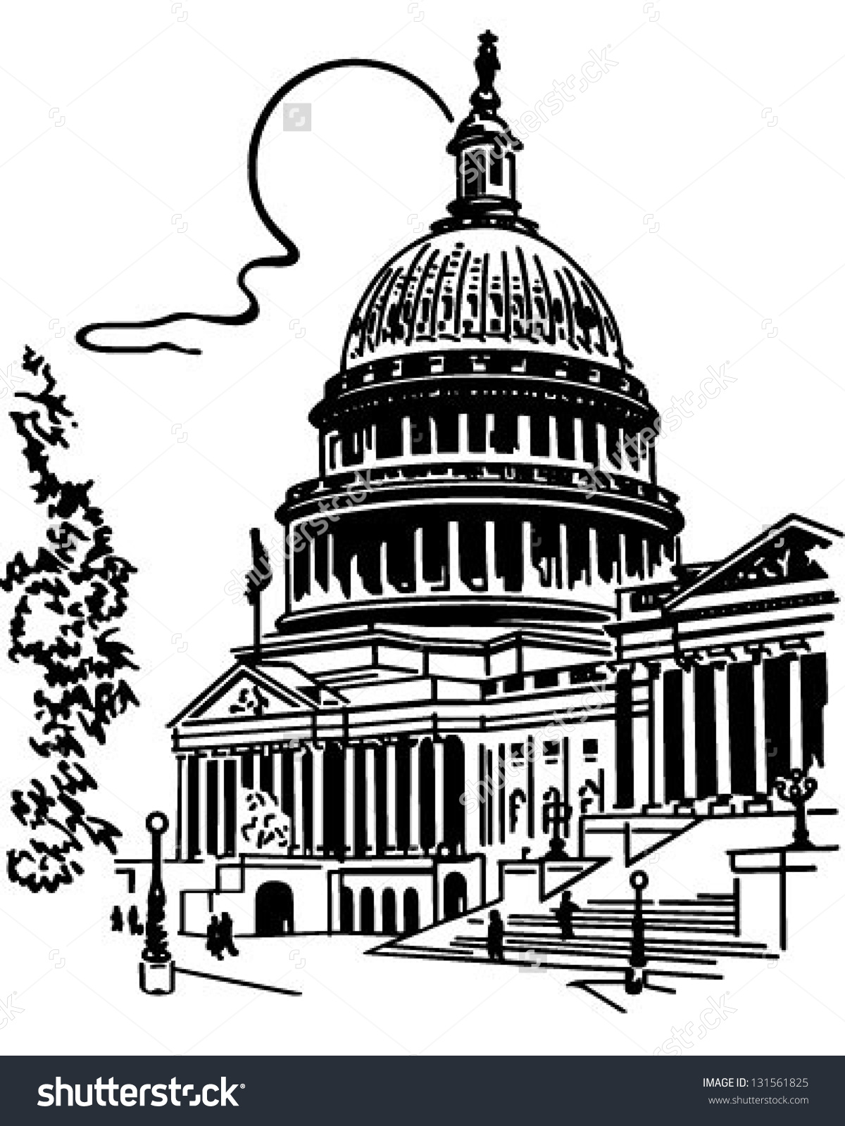 Buildings clipart vector. Capitol building collection soscivilizations