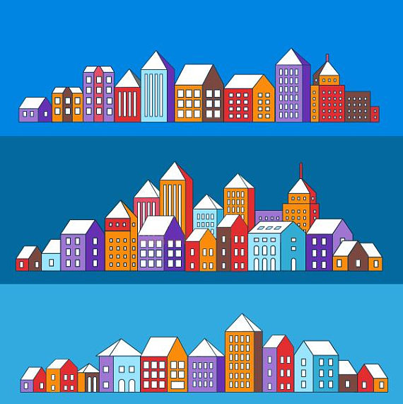 Buildings clipart vector. Building city svg urban