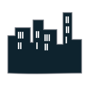 Icon clip art at. Buildings clipart vector