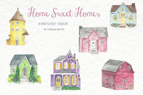 Buildings clipart watercolor. Download clip art flowers