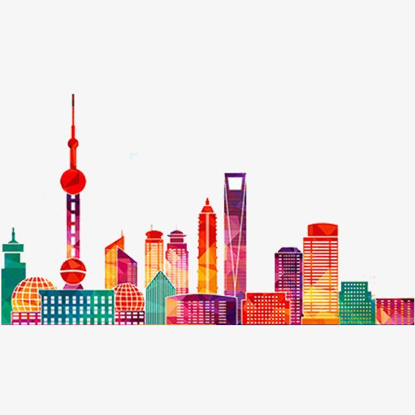 Buildings clipart watercolor. Shanghai architecture building png