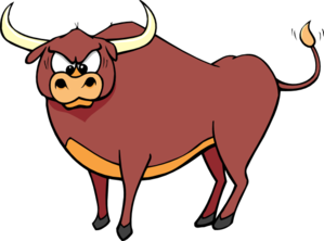 Bull clipart. Angry crosseyed clip art