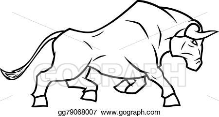 Eps vector running stock. Bull clipart angry bull