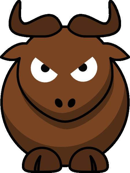 Bull clipart angry bull. Clip art at clker