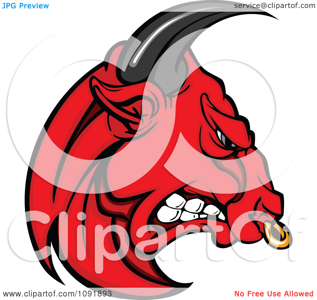 Bull clipart angry bull. Red mad