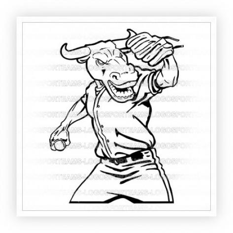 Bull clipart baseball. Mascot logo part of