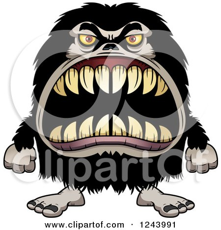Bull clipart beast. Horn tooth pencil and