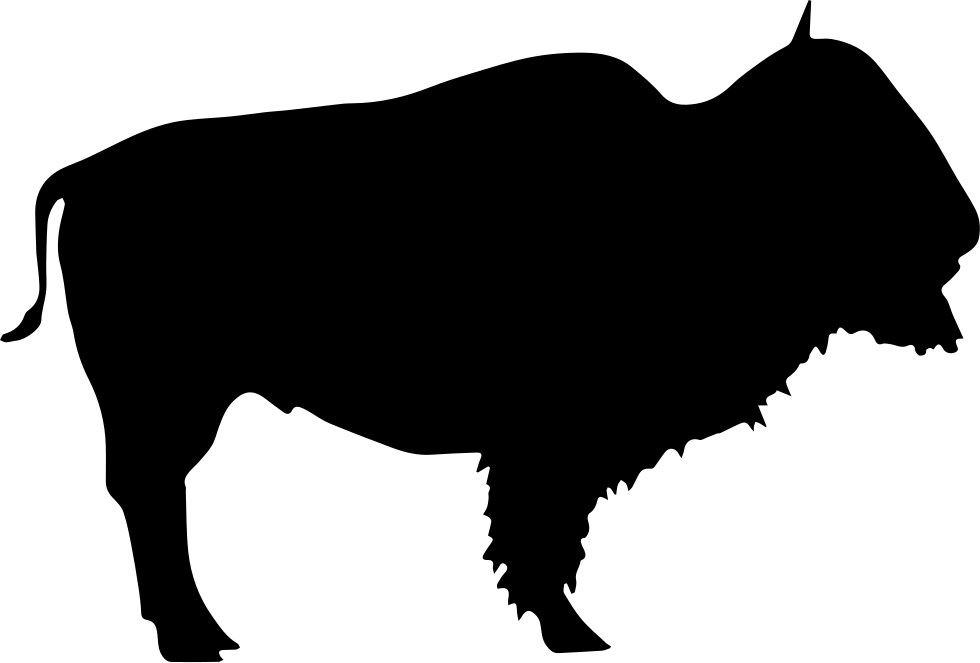 Bull clipart beast. Buffalo head silhouette at