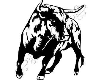 Angry etsy . Bull clipart beast