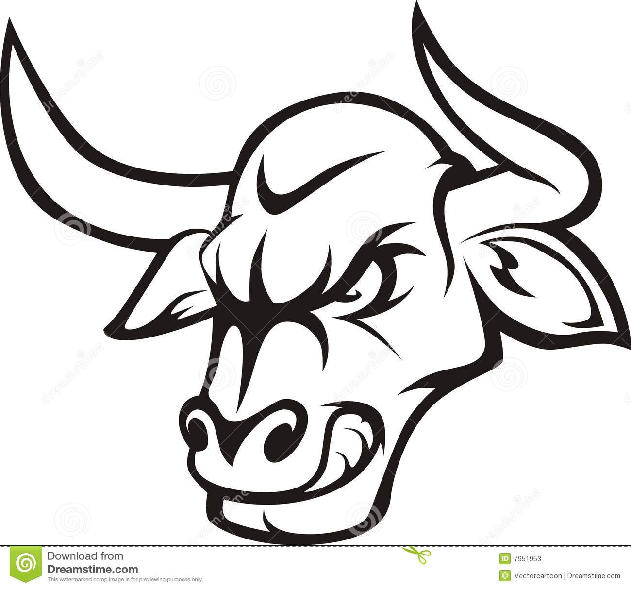 Bull clipart black and white. Free