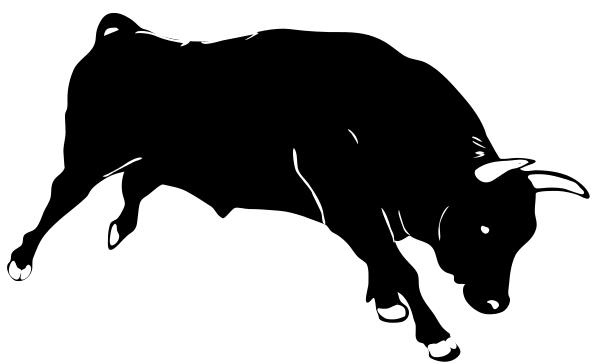 Bull clipart black and white. Station