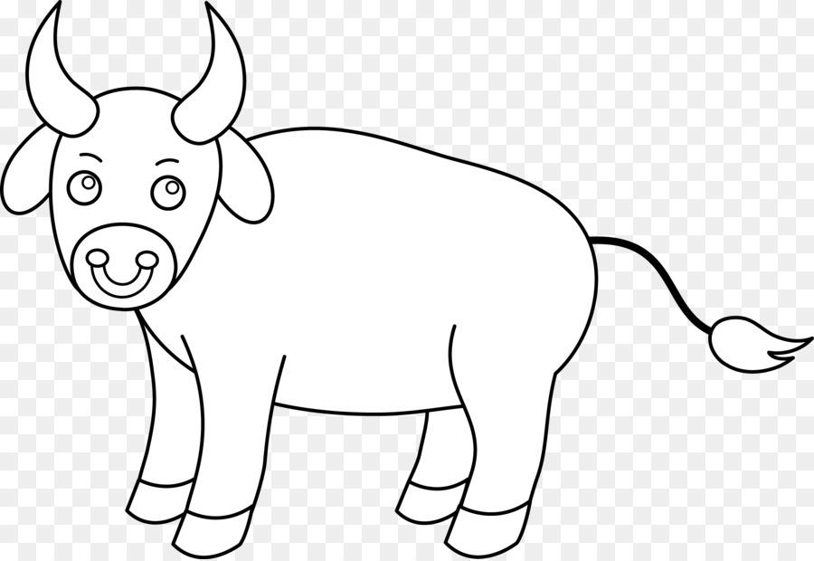 Bull clipart black and white. Cattle drawing clip art