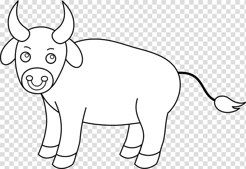 Cattle drawing ox transparent. Bull clipart black and white