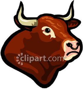 Brown s royalty free. Bull clipart bull face