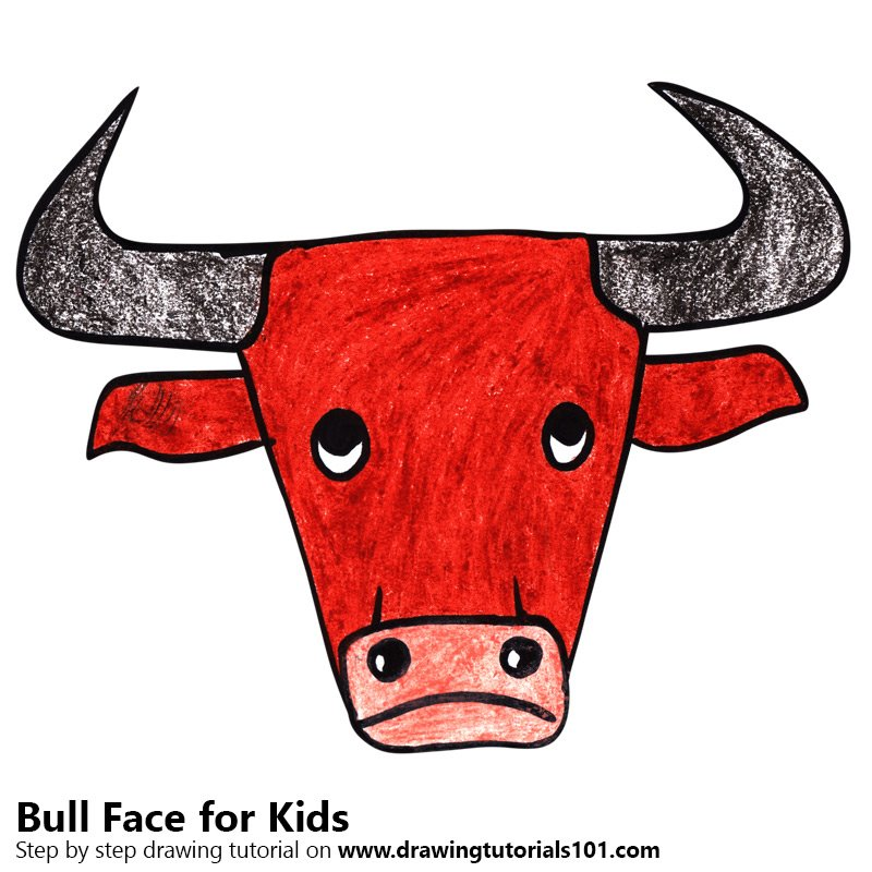 Bull clipart bull face. Learn how to draw