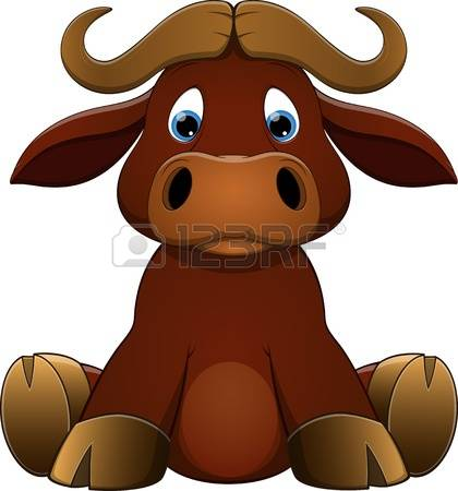Bull clipart bull face. Cute collection stock illustrations