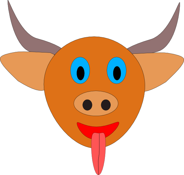 Clipart face bison. Bull s head cartoon