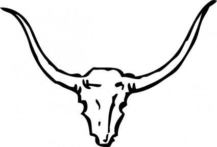 Free skull and vector. Bull clipart bull head