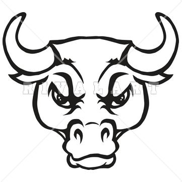 . Bull clipart bull head