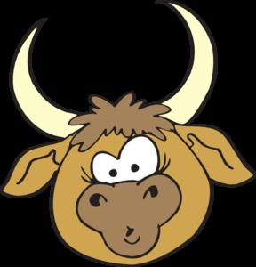 Shocked clip art at. Bull clipart bull head