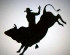 Free riding rodeo sillouette. Bull clipart bull rider
