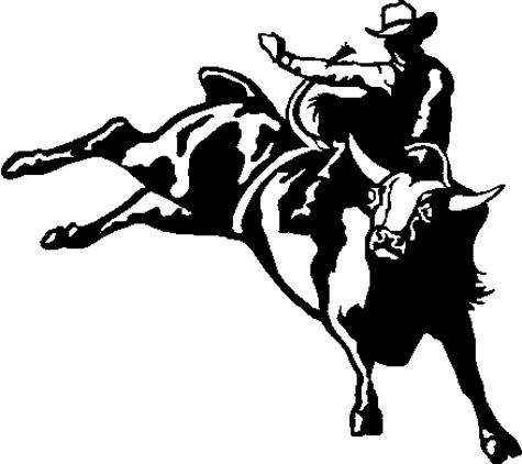 . Bull clipart bull rider