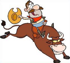 Free riding. Bull clipart bull rider