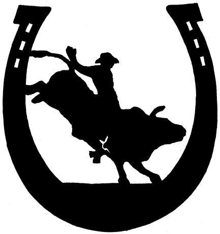 Bull clipart bull rider. Silhouette images bullrider bing