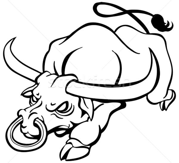 Bull clipart carabao. Charging stock vectors illustrations