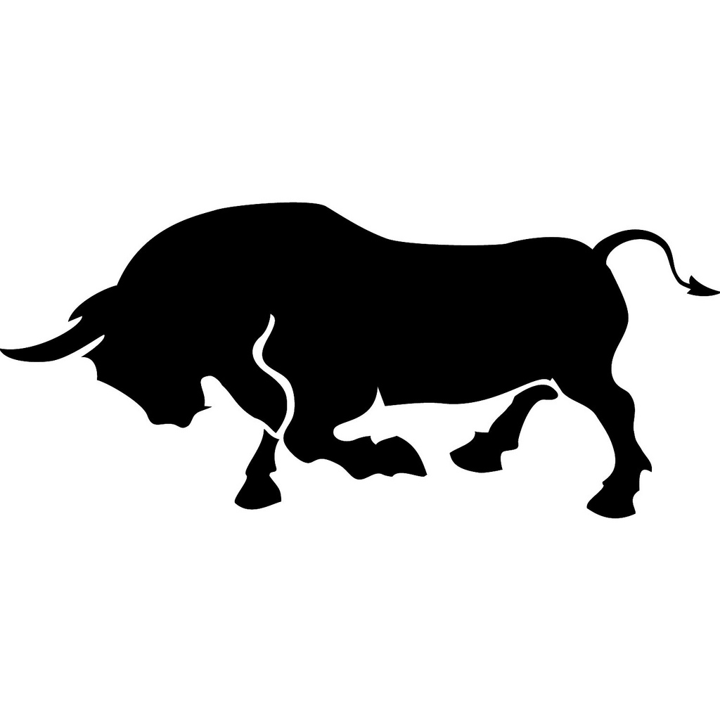 Charging drawing free download. Bull clipart charge