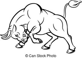 Bull clipart charge. Charging drawing image group