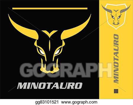 Bull clipart minotaur. Vector wild head of